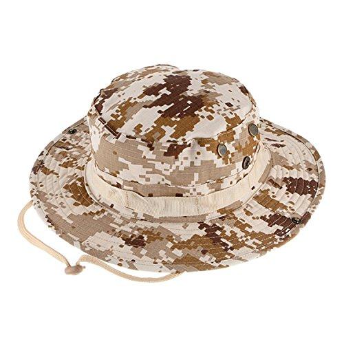 QMFIVE Sombrero Redondo Táctico  de Camuflaje Boonie Gorra de protección