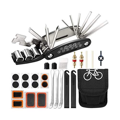 CUJUX 16 en 1 Herramientas de reparación de bicicletas Kit de bicicleta...