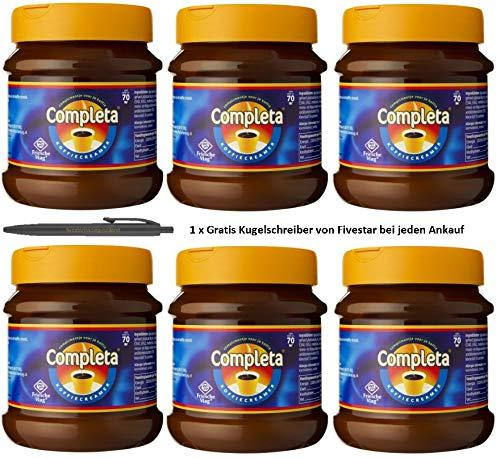 6 x Completa Kaffeeweißer (6 x 200g) Coffee Creamer inkl. Gratis Five Star Kugelschreiber