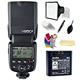 Godox Ving V850II GN60 2.4G 1/8000s HSS Camera Flash Speedlight ,1.5s recycle time & 650 Full Power Pops with 2000mAh Li-ion Battery compatible for Canon Nikon Pentax Olympas