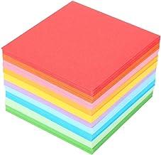 Fdit mil Grúa de Papel Plegables de Papel Coloreada Origami de Colores Doble Cara de Origami Grúa Chapa Artesanal 1Paquete de 520Piezas 7x 7cm