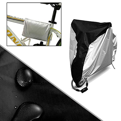 TWBEST Funda Bicicleta,Funda Bicicleta Oxterior Impermeable 2 Bicis - 190T de Nylon Cubierta Protector al Aire Libre contra Lluvia Sol Polvo para Montaña Carretera Bicicletas