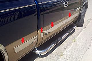 Made in USA Works with 1999-2002 Chevrolet Silverado 3Dr Extended Cab Short Bed W//O Fender Flare Rocker Panel Chrome Stainless Steel Body Side Moulding Molding Trim Cover 6 11PC