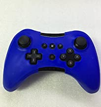 Protectiver Soft Silicone Skin Case Cover For Wii U Pro Controller Wireless Rubber Case-Blue
