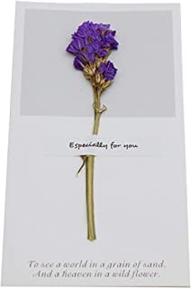 1Pcs Birthday Dried Flowers Invitations Postcards Wedding Party Festival Greeting Card,NO.1,OneSize