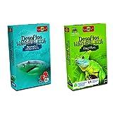 Bioviva - Juego De Cartas Desafíos Naturaleza Animales Marinos (Asmodee 306), Color/Modelo Surtido + Juego De Cartas Desafíos Naturaleza Reptiles (Asmodee 308), Color/Modelo Surtido