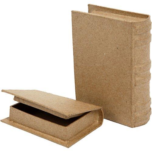 Boîtes livres, dim. 6x9x2 cm, dim. 8x11,5x2,5 cm, 2pièces