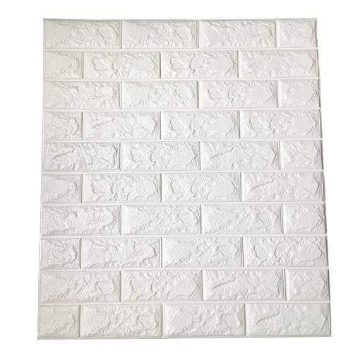 Fondo de pantalla extraíble cubierta de pared deco 6.5 Metros cuadrados de la cáscara y de pared Paneles de barra en 3D for Interior decoración de la pared 77 x 70 cm ladrillo blanco del papel pintado
