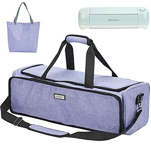 HOMEST Carrying Case for Cricut Explore Air 2, Cricut Maker, Large Front Pocket for Accessories, Purple (Patent Design)