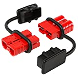 Battery Quick Connect Disconnect Electrical Plug 6-10 Gauge 75 Amps for Recovery Winch or ATV Quad