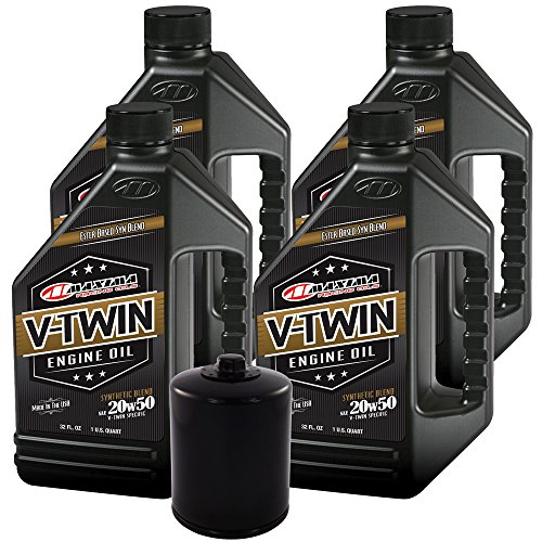 MaximaHiflofiltro VTEOCK23 Synthetic Blend Engine Oil Change Kit for Harley Davidson Twin Cam V-Twin