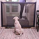 Nifogo Magic Gate Portátil y Plegable Safe Guard Cerramiento de Seguridad para Mascotas Dog Cat Fences, Net de Aislamiento para Mascotas Paredes de Puertas de Coche Stairwells (72 x 180 cm)