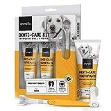 Kit Dentifricio per Cani 200g (Pacco da 2) + Spazzolino per Cani - Igiene Orale, Alitosi e Tartaro