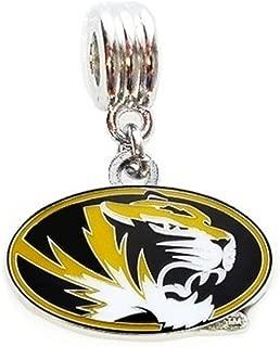 Heavens Jewelry MU University of Missouri Tigers Mizzou Team Charm Pendant for Necklace European Charm Bracelet (Fits Most Name Brands) DIY ETC