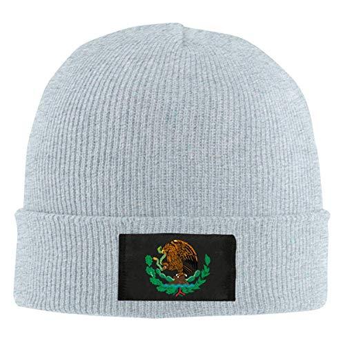 not applicable Casquillo del cráneo de esquí Caliente de la Bandera de México Águila Unisex Punto Beanie Sombrero de Invierno