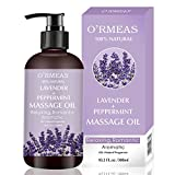 Massage Oil for Warming, Relaxing, Massaging Joint Pain Relief Sensual Massage Oil Lavender and Peppermint Massage Oils Moisturizing Body Oil for Men and Women 10.2 fl.oz