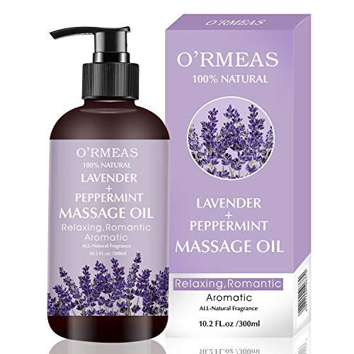 Massageöl für Erwärmen, Entspannen, Massieren Gelenkschmerzen Linderung, Lavendel Peppermint Massage Oil Sinnliches Massageöl Feuchtigkeitsspenden