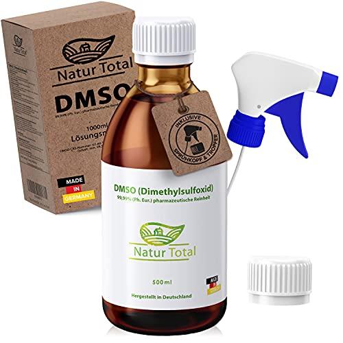 DMSO 500ml 99,9 Prozent Reinheit ph Eur - Dimethylsulfoxid 99,9% pharmazeutische Reinheit Unverdünnt - Made in Germany - Apothekenflaschen - Braunglas