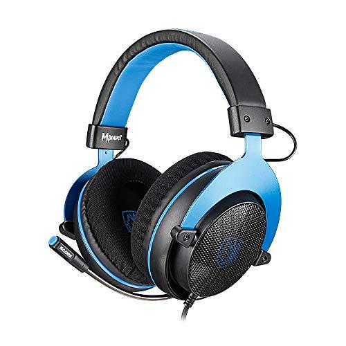 SADES [Upgrade-Version] MPOWER Gaming-Headset mit 3,5 mm Klinke, Over-Ear-Headset mit ausziehbarem Mikrofon, Geräuschunterdrückung, für PC, Smartphones, Tablets, Laptops, Nintendo Switch, PS4