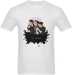 ZIFENG Men's Il Volo Art T Shirts White 3XL