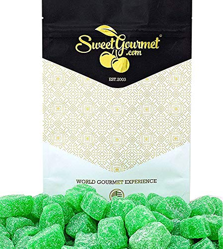 SweetGourmet Jelly Spearmint Leaves Slices Candy   1 Pound