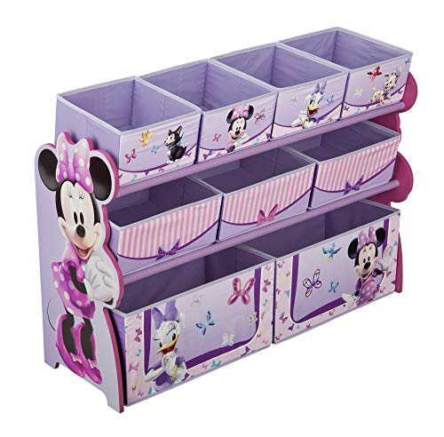 Delta Children Deluxe 9-Bin Toy Storage Organizer, Disney Minnie Mouse