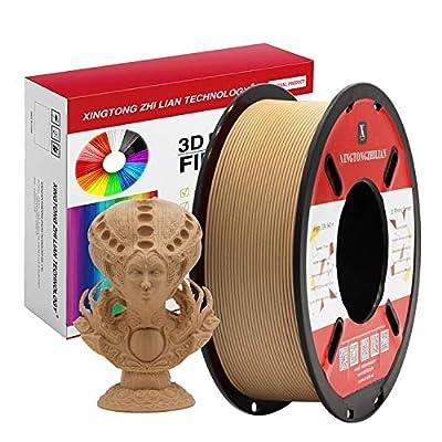 PLA Filament 1.75mm, 3D Printing PLA Filament for 3D Printer and 3D Pen, Marble Look PLA Filament,Silk Look PLA Filament, Dimensional Accuracy +/- 0.02mm,1kg 1 Spool (Wood)