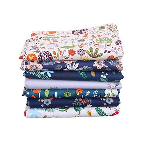 7 Stück Cotton Craft Fabric Bundle Quilten Patchwork 40X50cm Blumen Bedruckter Baumwollstoff, Zum DIY-Nähen Quilten Scrapbooking-Projekte, Nähen DIY Crafts, Hüte, Schals, Für Freunde Oder Familie