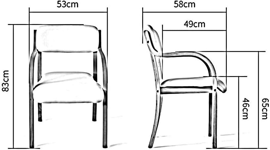 Chairs Chaises de Bureau Salle À Manger Fauteuil En Bois Étude Ordinateur Relaxant Fauteuil Inclinable Lounge Couleur Unie 18 Couleurs (Couleur:),8 11