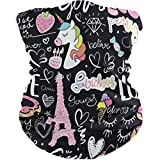 Protective Veil Scarves Unicorn Pink Eiffel Tower Donut Women Men Scarf Sunscreen Dust Wind UV Sun Hair Wrapping Wristband...