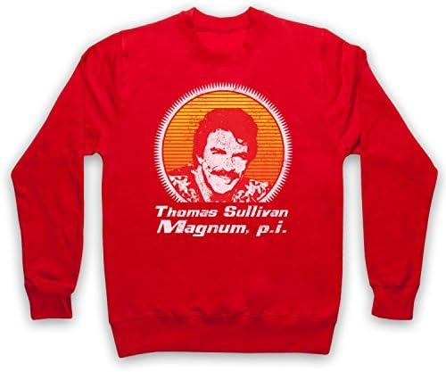 The Guns Of Brixton Magnum PI Face Sweat-Shirt des Adultes Gris 2XL