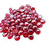 Armena - Piedras de Cristal Rojas Transparentes para decoración, 17-20 mm, 300 g (Aproximadamente 75 Unidades), Color Rojo