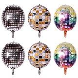 JKJF Globos de discoteca de 22 pulgadas, globos 4D, grandes redondos, para fiestas, graduaciones, cumpleaños, bodas, graduación, baby shower, 6 unidades en 3 colores