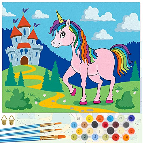 Emooqi Pintar por Números Niños, DIY Paint by Numbers Kits de Pintura...