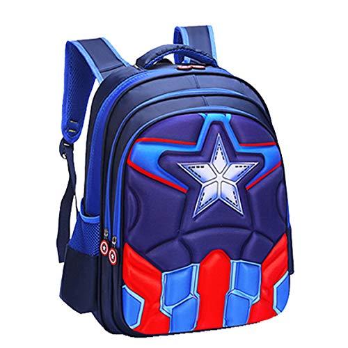 Unbrand Niños Mochila Niña Bolsa de Viaje Impermeable Capitán América Spiderman Impreso