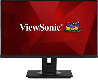 """Viewsonic VG2456 24"""" Docking Monitor featuring USB Type-C and Ethernet Monitor,Black"""