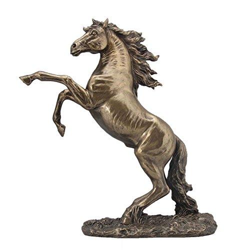 Pferde Figur - Wildes Pferd bäumt sich auf - Veronese bronziert