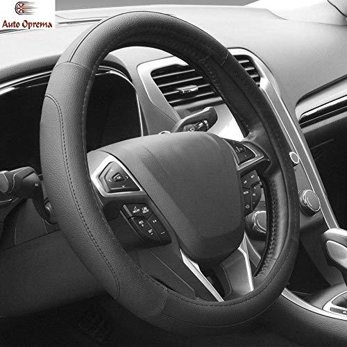 Auto Oprema Microfiber Leather Auto Car Steering Wheel Cover Universal 15 inch (Black)