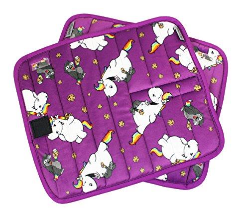 EQuest Pummeleinhorn 3.0-2er Set Bandagenunterlagen mit Pummel & Kuri in purple 552200, Größe:M