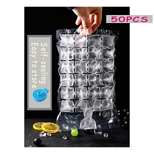 Einweg-Eiswürfelbeutel 24 Eiswürfel PE Lebensmittelmaterial Selbstverschließend Eisform Eiscreme Aufbewahrungsbeutel Passionsfrucht Gefrorene Beutelform Sommergetränke Party-Aktivitäten 50/100/200PCS