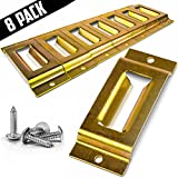 COOLOCK 8 Pack E-Track Single Slot Tie Down Anchor For Ratchet/Cam Straps & E-Track Accessories Secure Motorcycles, Cargo Loads, Bikes, Trailers, Pickups Vans & Trucks With 16 Screws & 1 Lashing Strap