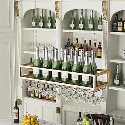 botellero Vino Botellero para Vinos para Copas de Vino, Estante para Colgar Al Revés, Soporte para Copas de Vino para El Hogar, Estante de Almacenamiento de Vino para Copa de Bar