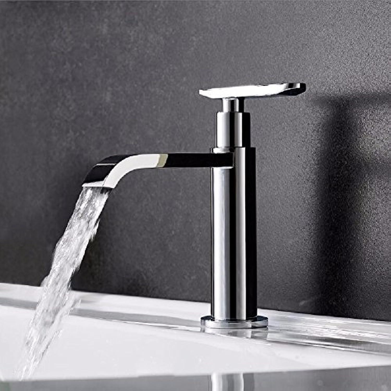 Bijjaladeva Wasserhahn Bad Wasserfall Mischbatterie Waschbecken Waschtisch Armatur für BadDas Becken aus Bronze Mixer Hand Waschen Sie Ihr Gesicht Waschen und Kalt Wasserhhne