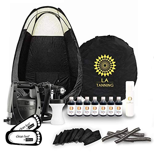 STAR BUY!!Latest Spray Tanning Kit! TS20 Machine, Black Tent, 7 Bottles of Our AWARD WINNING LA Tan...