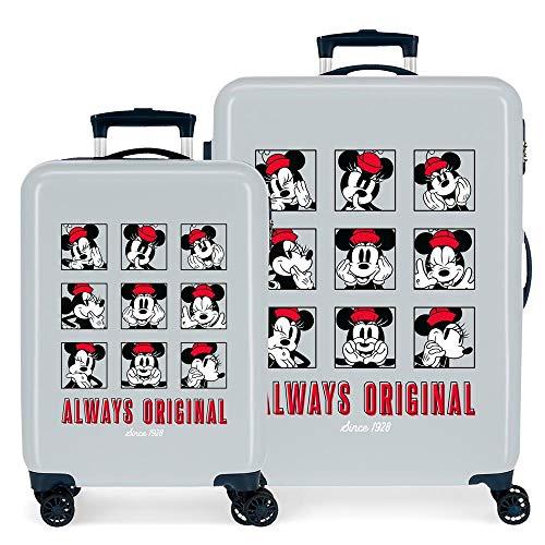 Disney Good Vives Only Kofferset Blau 55/68 cm Hartschale ABS seitlicher Zahlenschloss 104L 2,66 kg 4 Doppelrollen Handgepäck