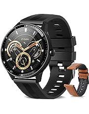 Smartwatch, smartwatch, IP67 waterdicht, voor heren, smartwatch, 3,8 cm (1,3 inch) met 24 sporten, hartslag, calorieën, slaap, GPS, smartarmband met iOS Android