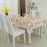 Hengci Einfach Ländlich Spitze Rechteckig Tischdecke für Gartentisch Paris Lovers Cafe 80 * 80 cm