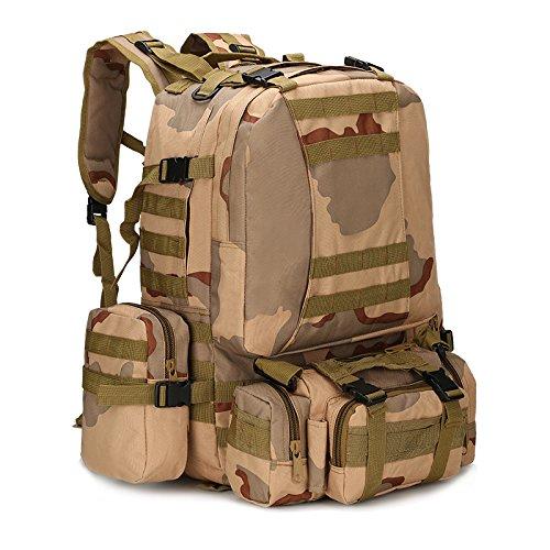 Zaino Tattico 50L, Zaino Militare Da Uomo, Borsa Tattica Sportiva Molle 4 in 1, Zaino Militare Da Arrampicata Per Escursionismo All'aperto Borse Da Campeggio