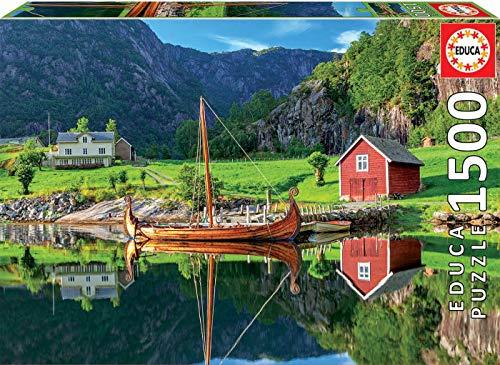 Educa - Barco Vikingo Puzzle, 1500 Piezas, Multicolor (18006)