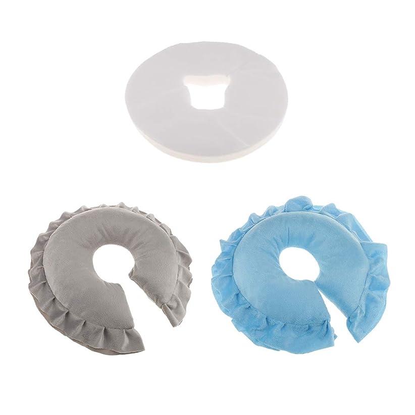 乳製品カバレッジ注文gazechimp 2個 フェイスクッション マッサージ枕 100個使い捨てクッションカバー付 洗えるカバー 旅行用